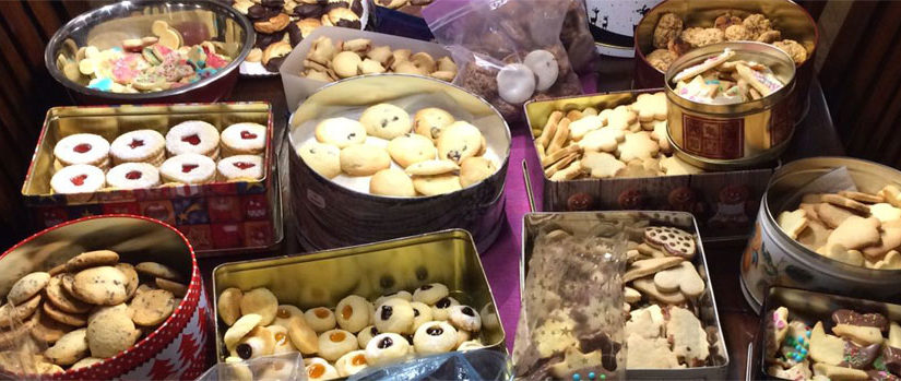 Kekse für den Verkauf auf dem Weihnachtsmarkt